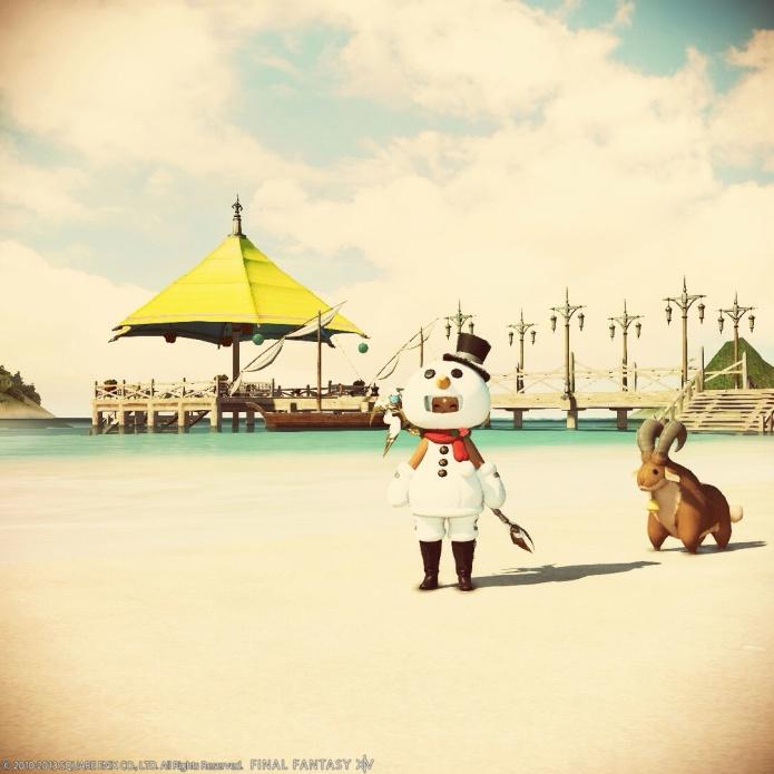 ハウジングエリアの浜辺。